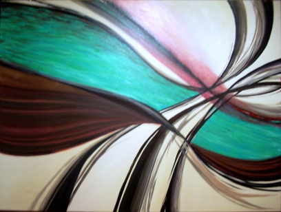 Angélica Cerón, óleo sobre tela